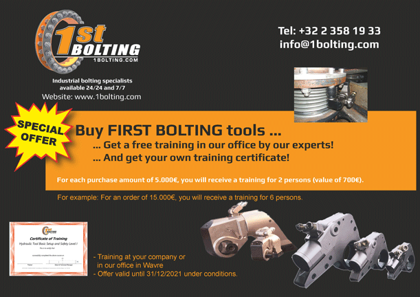 Buy hydraulic torque wrenches and get free training at First Bolting