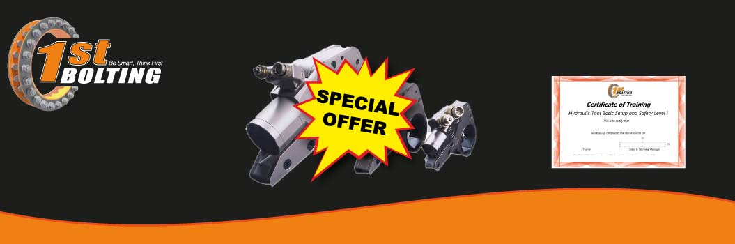 SPECIAL OFFER – Buy hydraulic torque wrenches and get free training (under conditions)